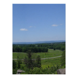 Little Round Top Panorama 4 Posters