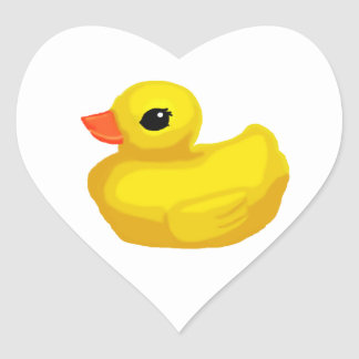 """Little Rubber Ducky"" Heart Sticker"