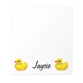 """Little Rubber Ducky"" Notepad"