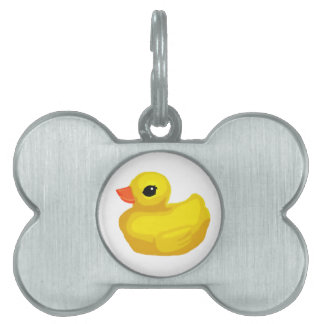 """Little Rubber Ducky"" Pet ID Tag"