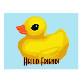 """""""Little Rubber Ducky"""" Postcard"""