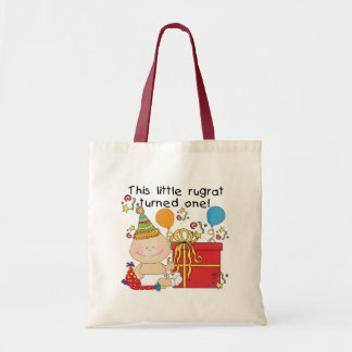 Little Rugrat is One Birthday Tshirts and Gifts Tote Bag