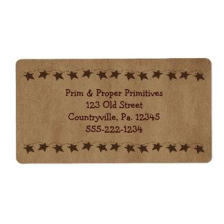 Little Rusty Stars Business Label