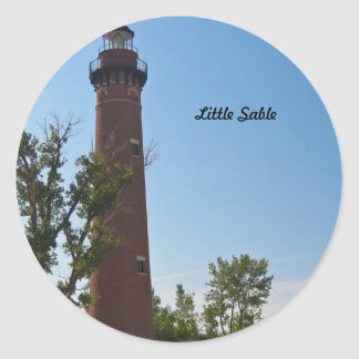 Little Sable Lighthouse Classic Round Sticker