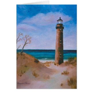 Little Sable Point Light Blank Card