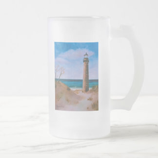 Little Sable Point Lighthouse Frosted Mug