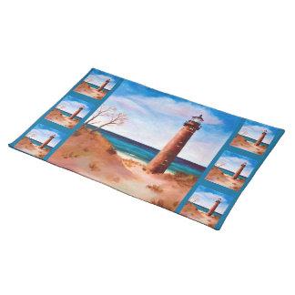 Little Sable Point Lighthouse Placemat Cloth Placemat