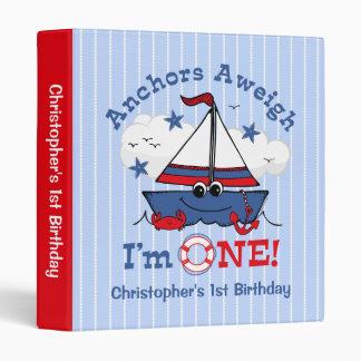 Little Sailboat 1st Birthday Binder
