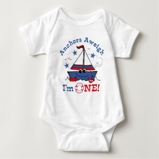 Little Sailboat 1st Birthday Infant Creeper