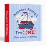 Little Sailboat 1st Birthday Vinyl Binders