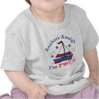 Little Sailboat 2nd Birthday T-shirt