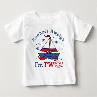 Little Sailboat 2nd Birthday Shirt