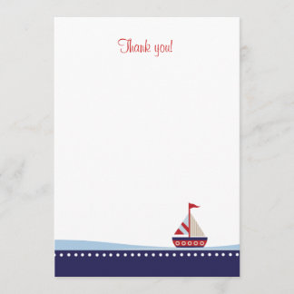 Little Sailboat Flat Thank You note