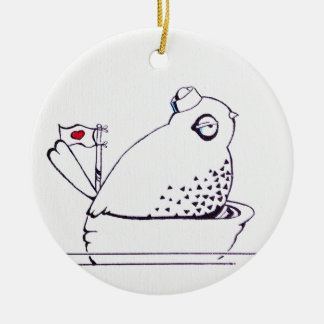 little sailor bird ceramic ornament
