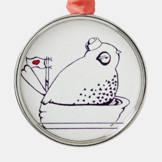 little sailor bird metal ornament