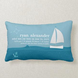 Little Sailor Birth Announcement Pillow
