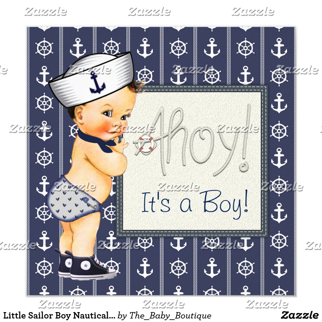 Little Sailor Boy Nautical Baby Shower