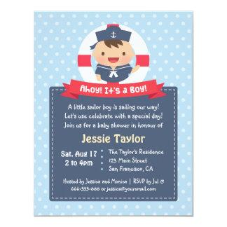 Little Sailor Boy Nautical Baby Shower Invitations