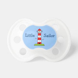 Little sailor boy pacifier | Nautical lighthouse