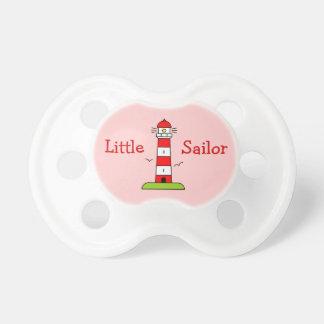 Little sailor girl pacifier | Nautical lighthouse