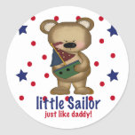 Little Sailor Like Daddy Stickers