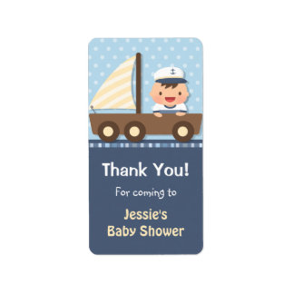 Little Sailor Nautical Baby Shower Party Address Label