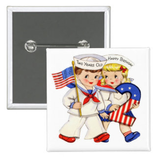 Little Sailor Twins 2nd birthday button