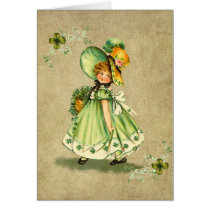 Little Saint Patty's Day Girl- Greeting Card