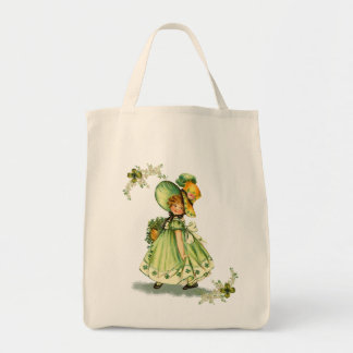 Little Saint Patty's Day Girl- Grocery Tote Tote Bags