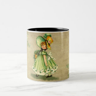 Little Saint Patty's Day Girl-Mug Two-Tone Coffee Mug