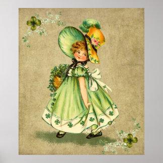 Little Saint Patty's Day Girl- Print