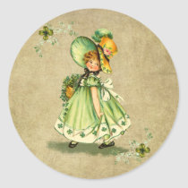 Little Saint Patty's Day Girl-  Sticker