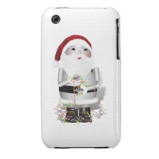Little Santa Claus Robot - Robo-x9 iPhone 3 Case