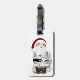 Little Santa Claus Robot - Robo-x9 Bag Tag