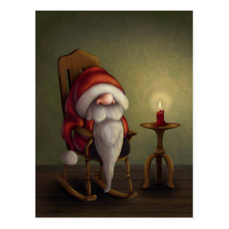 Little Santa in his rocking chair Postcard
