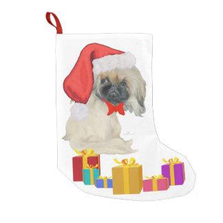 Little Santa Pekingese Small Christmas Stocking