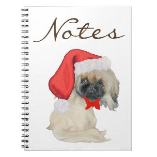 Little Santa Pekingese Spiral Notebook