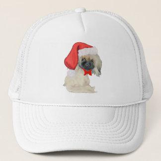 Little Santa Pekingese Trucker Hat