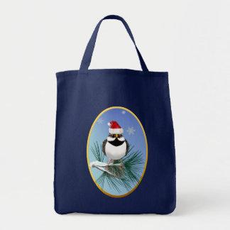 Little Santa Sparrow Oval Bags