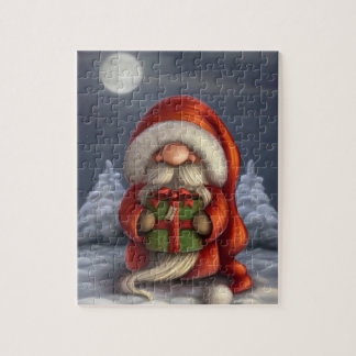 Little Santa with a gift Jigsaw Puzzle