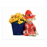 Little Scarecrow and Mums Post Card
