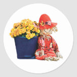 Little Scarecrow and Mums Stickers