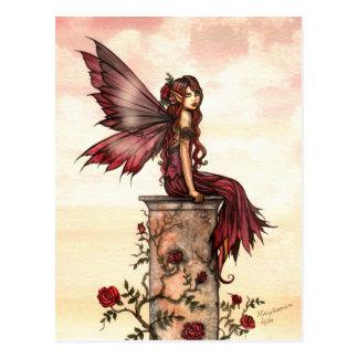Little Scarlet Rose Fairy Postcard
