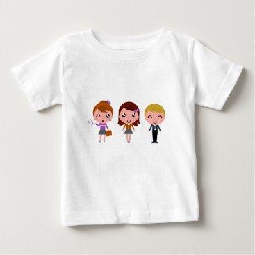 Beach Themed Little school kids original illustration baby T-Shirt