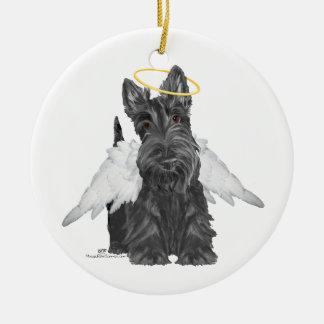 Little Scottie Angel Ceramic Ornament
