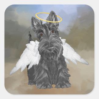 Little Scottie Angel Square Sticker