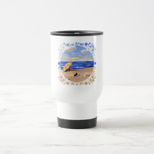 Little Scottie Plays at the Beach 15 Oz Stainless Steel Travel Mug
