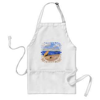 Little Scottie Plays at the Beach Adult Apron