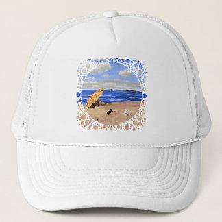 Little Scottie Plays at the Beach Trucker Hat