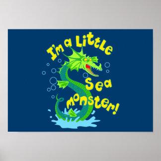 Little sea monster poster